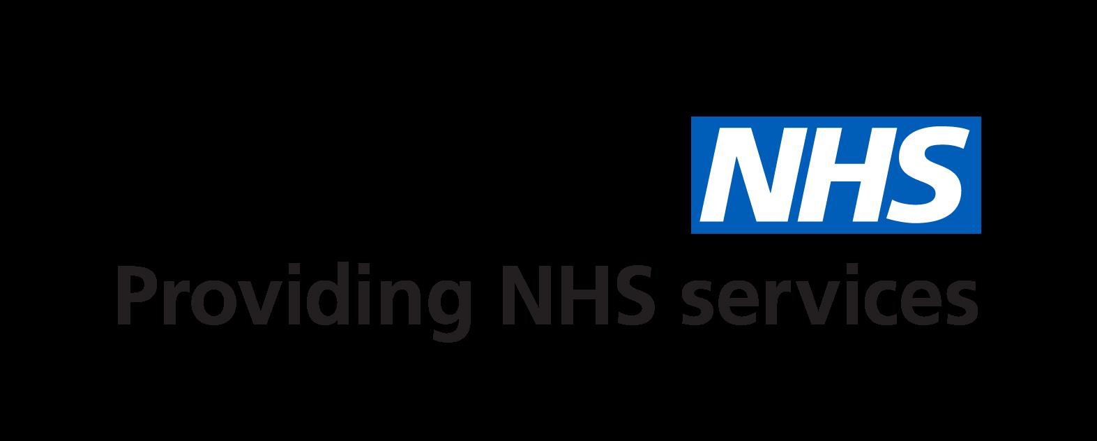Providing NHS Services Logo Transparent